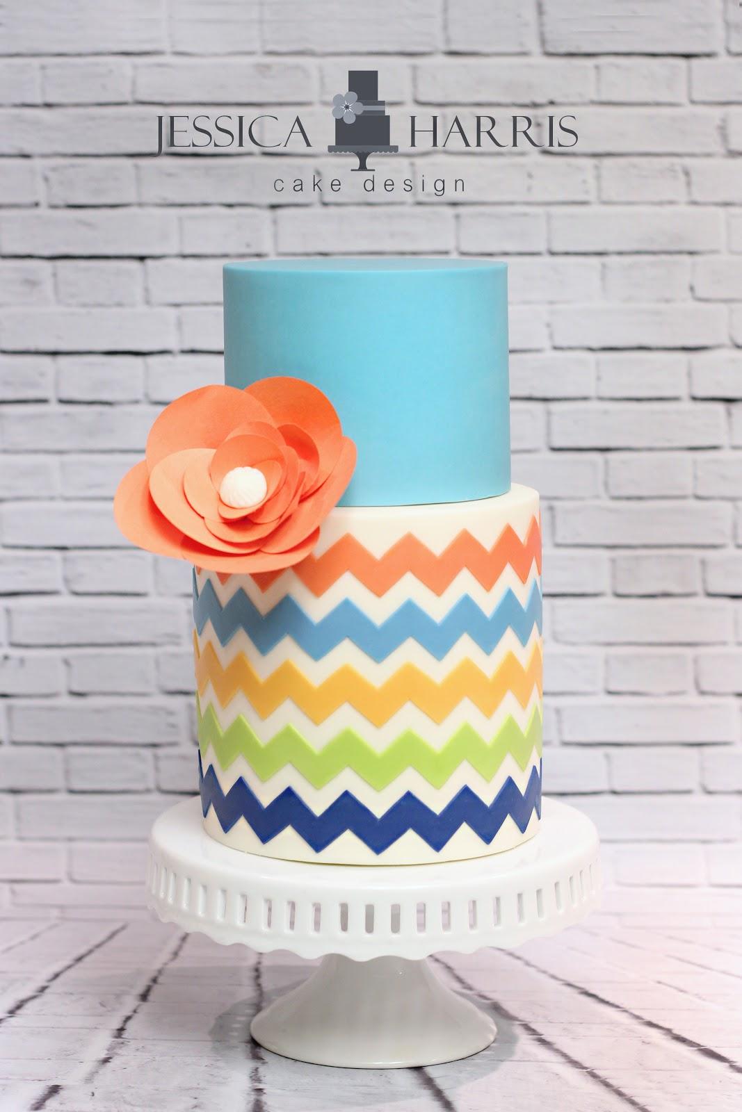 Template Tuesday Chevron Cake Design Jessica Harris