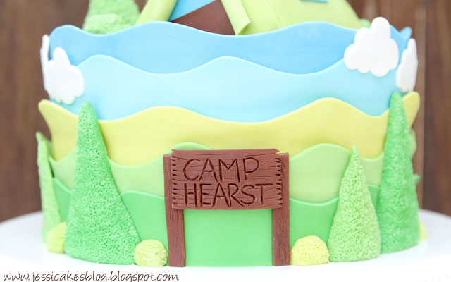 C&ing Tent Baby Shower Cake and Tutorial - Jessica Harris Cake Design & Camping Tent Baby Shower Cake and Tutorial - Jessica Harris Cake ...