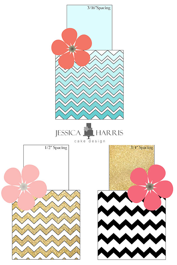 Small Chevron Cake Template (FREE!) - 3 Designs - Jessica ...